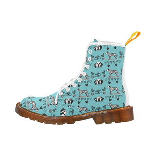 Dalmatian Pattern White Martin Boots For Women - TeeAmazing