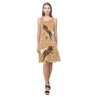 Queen Bee Sleeveless Splicing Shift Dress - TeeAmazing