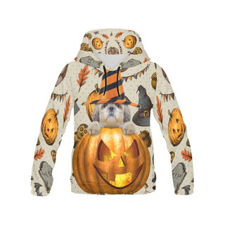 Shih Tzu Halloween All Over Print Hoodie for Men (USA Size) (Model H13) - TeeAmazing