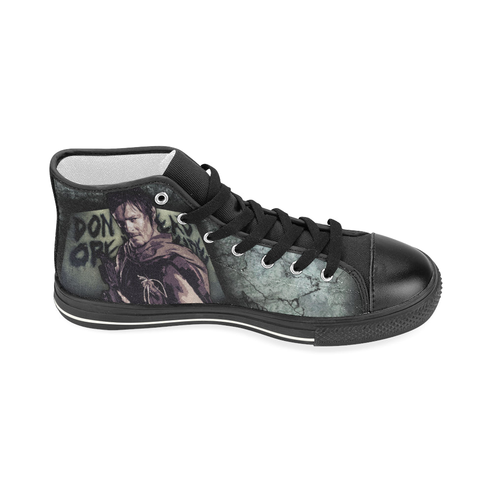 999ad47ed25995 ... Daryl Dixon Shoes   Sneakers - Custom The Walking Dead Canvas Shoes -  TeeAmazing ...