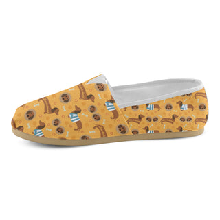 Dachshund Pattern Women's Casual Shoes - TeeAmazing