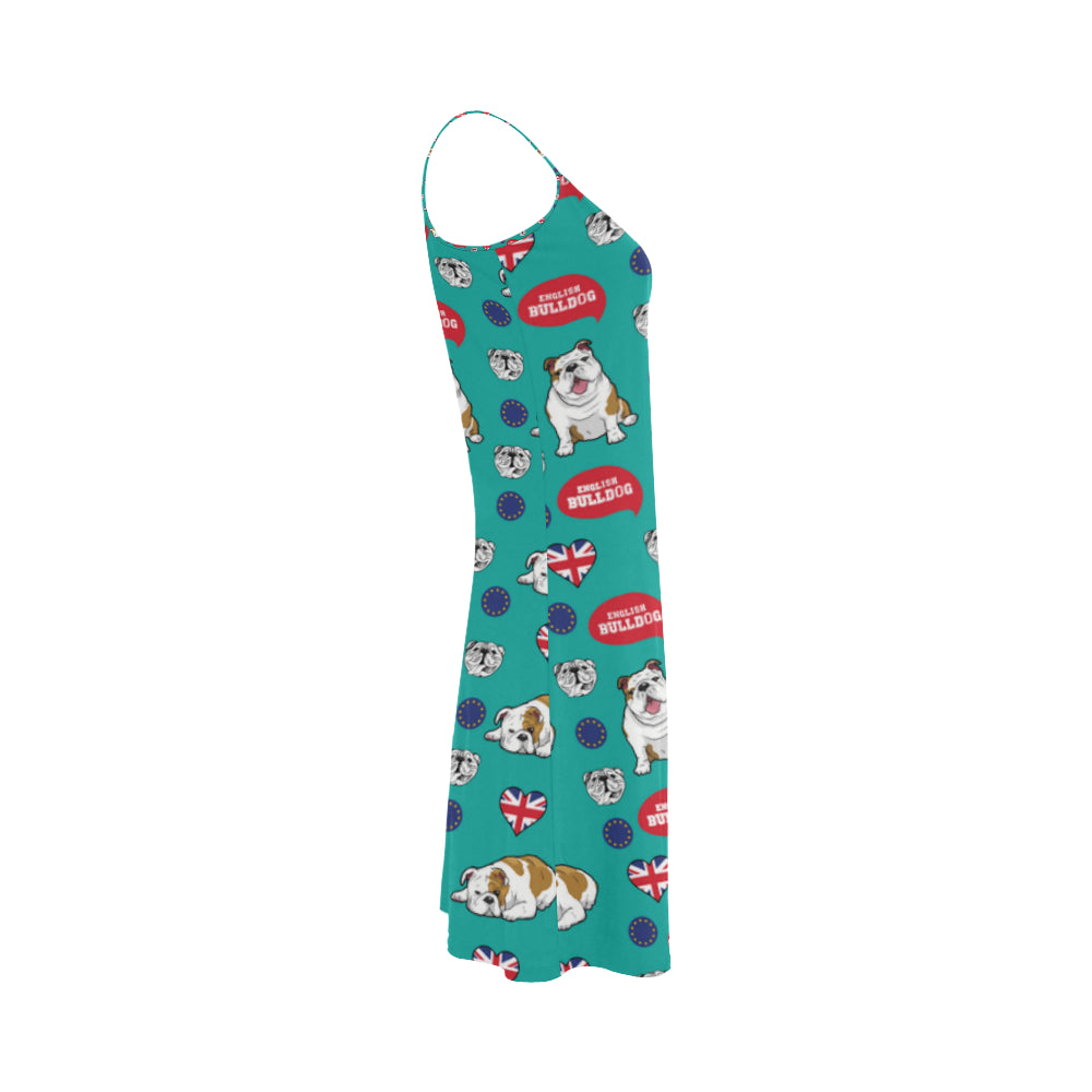 English Bulldog Alcestis Slip Dress - TeeAmazing
