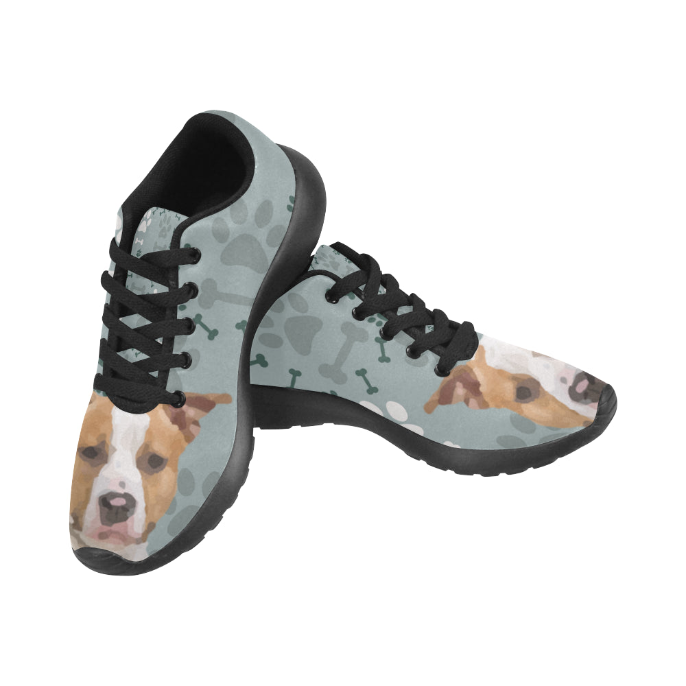 American Staffordshire Terrier Black Sneakers for Men - TeeAmazing