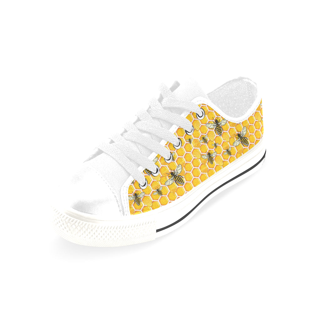 Bee White Men's Classic Canvas Shoes/Large Size - TeeAmazing