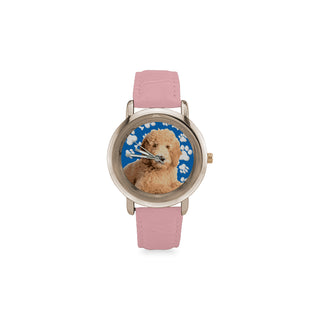 Goldendoodle Women's Rose Gold Leather Strap Watch - TeeAmazing