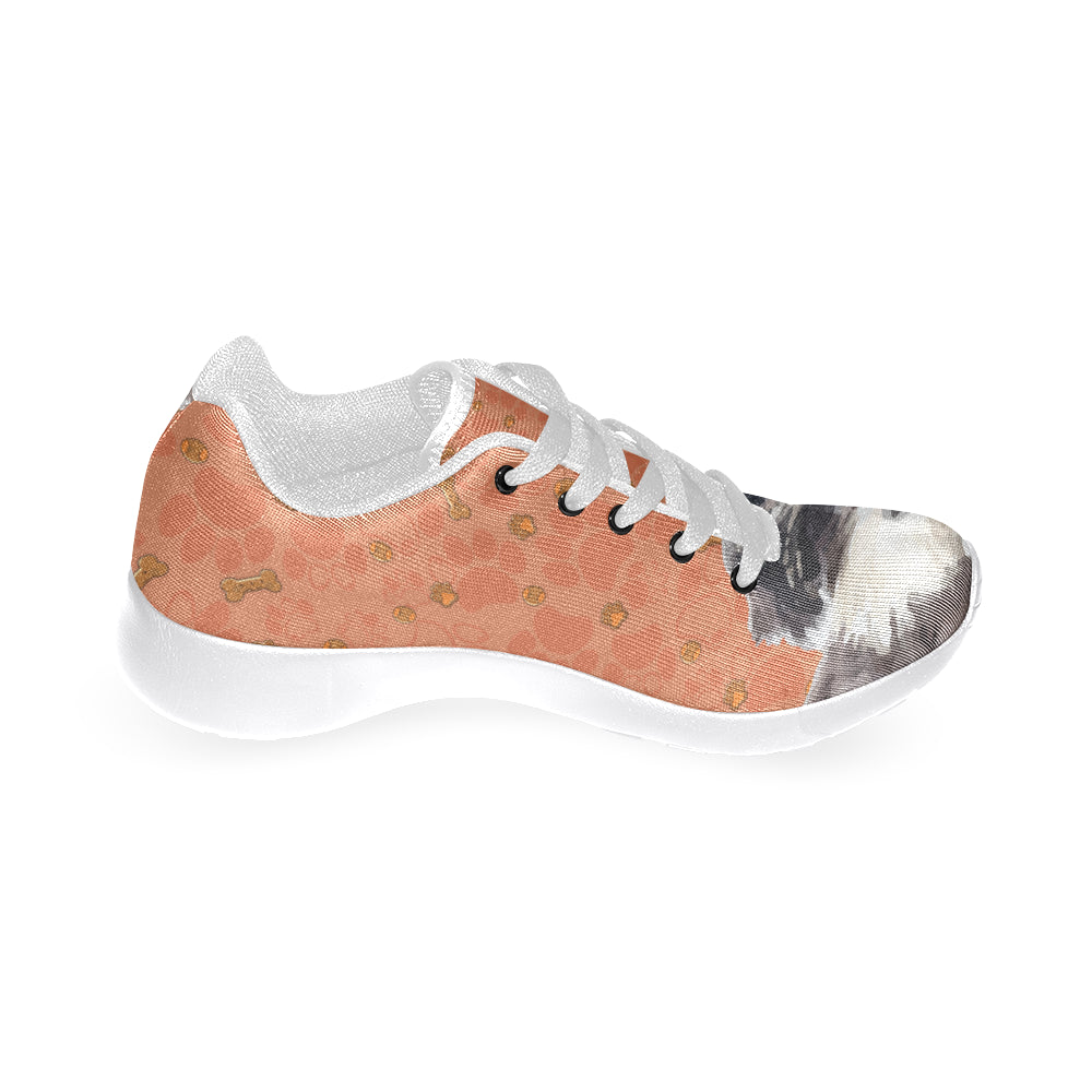 Miniature Schnauzer White Sneakers for Women - TeeAmazing