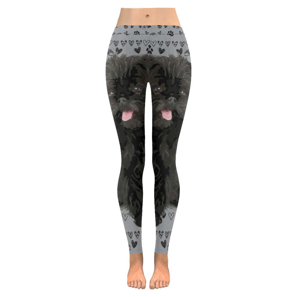 Affenpinschers Low Rise Leggings (Model L05) - TeeAmazing