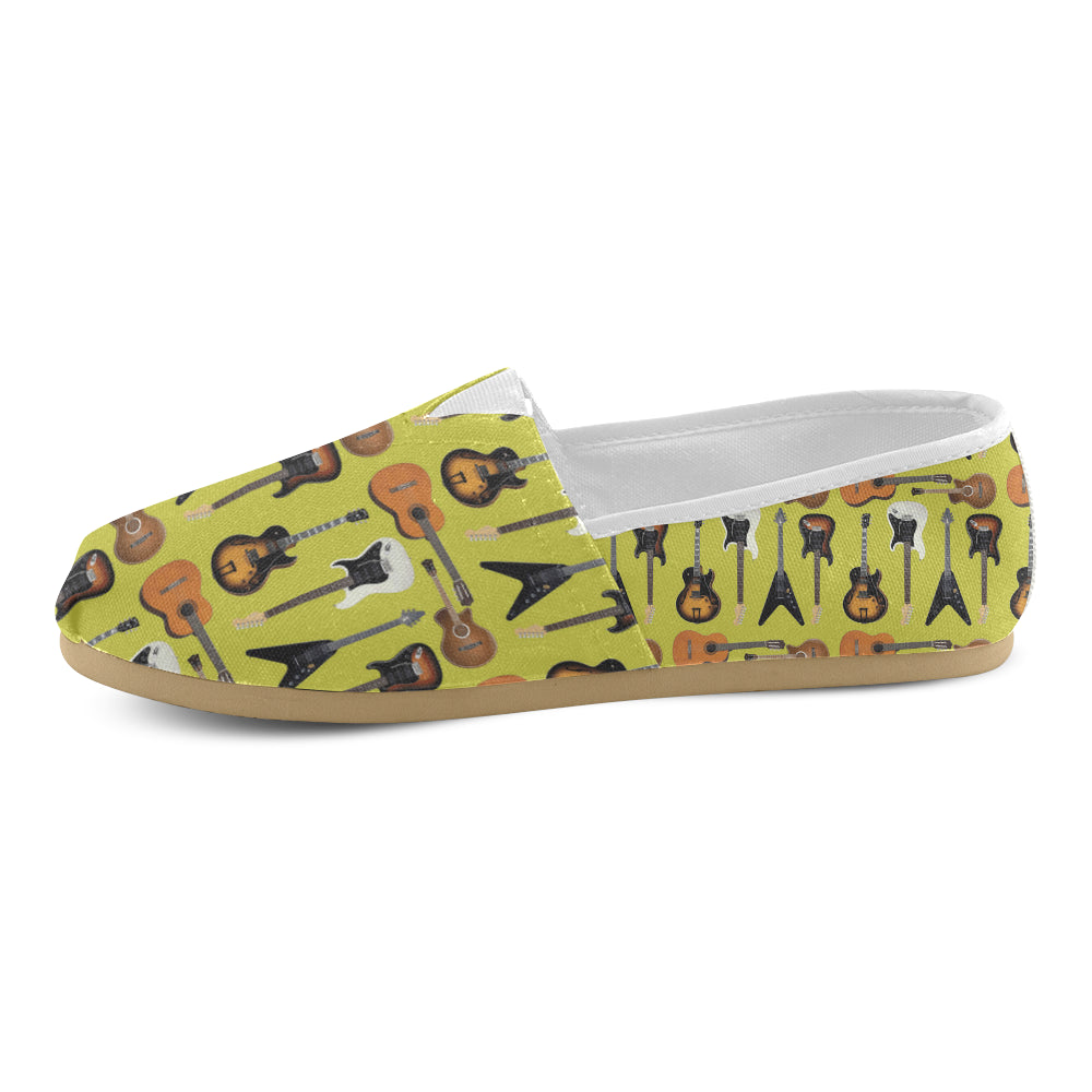 Guitar Pattern Women's Casual Shoes - TeeAmazing