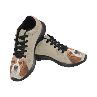Beagle Lover Black Sneakers for Women - TeeAmazing