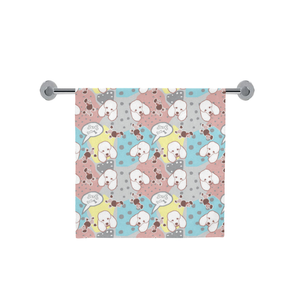 "Poodle Pattern Bath Towel 30""x56"" - TeeAmazing"