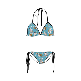 English Bulldog Flower Custom Bikini Swimsuit - TeeAmazing