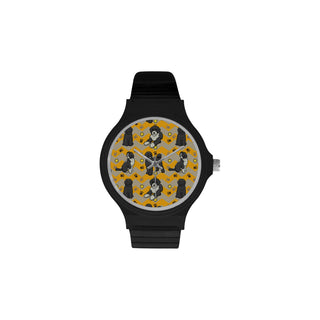 Portuguese water dog Unisex Round Plastic Watch - TeeAmazing