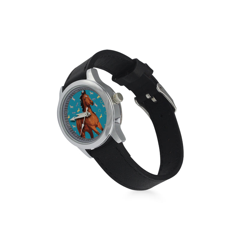 Horse Kid's Stainless Steel Leather Strap Watch - TeeAmazing