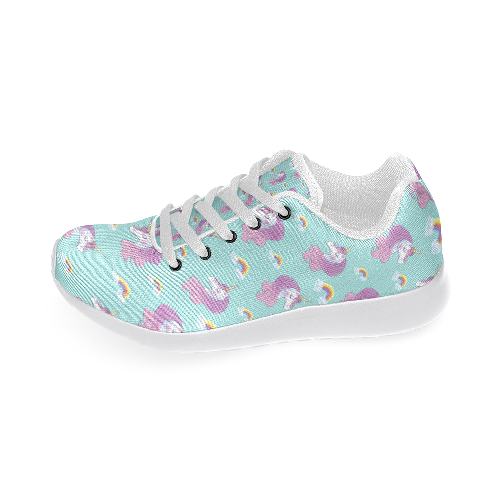 Unicorn White Sneakers for Women - TeeAmazing