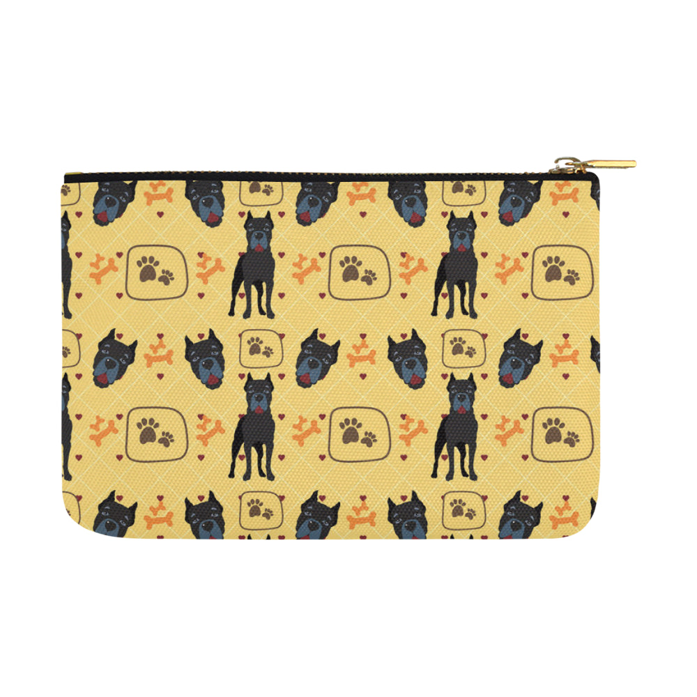 Cane Corso Pattern Carry-All Pouch 12.5x8.5 - TeeAmazing
