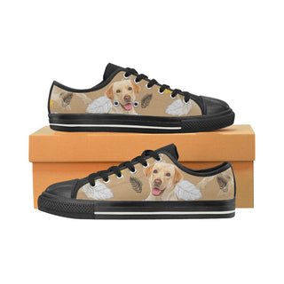 Labrador Retriever Lover Black Low Top Canvas Shoes for Kid