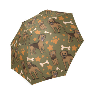 Border Terrier Pattern Foldable Umbrella - TeeAmazing