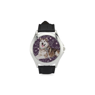 Alaskan Malamute Women's Classic Leather Strap Watch - TeeAmazing