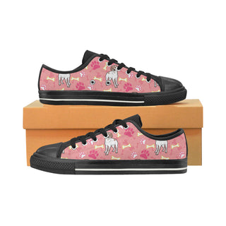 Brittany Spaniel Pattern Black Women's Classic Canvas Shoes - TeeAmazing