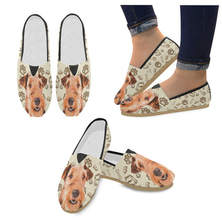 Airedale Terrier Women's Casual Shoes - TeeAmazing