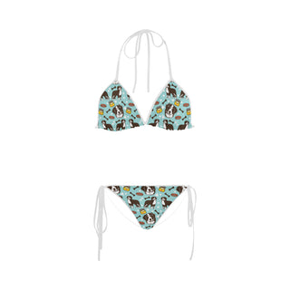 Bernese Mountain Pattern Custom Bikini Swimsuit - TeeAmazing