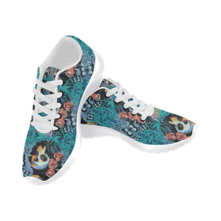 Sugar Skull Tattoo White Sneakers for Men - TeeAmazing