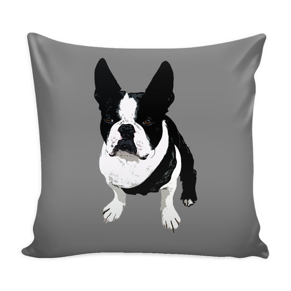Boston Terrier Dog Pillow Cover - Boston Terrier Accessories - TeeAmazing - 1