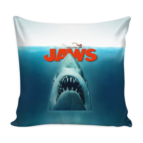 Jaws Pillow Cover - Jaws Accessories - TeeAmazing