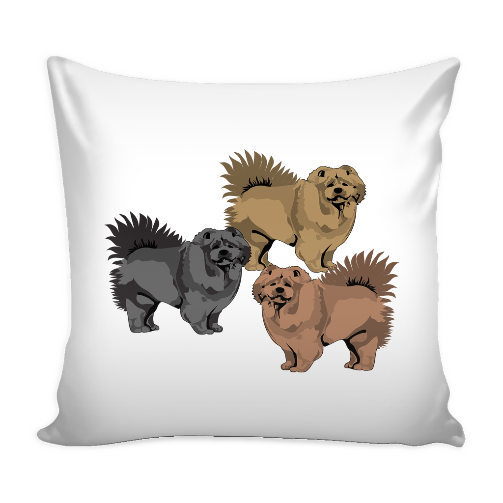 Chow Chow Dog Pillow Cover - Chow Chow Accessories - TeeAmazing - 1