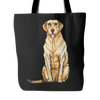 Drawing Labrador Retriever Dog Tote Bags - Labrador Retriever Bags - TeeAmazing - 4