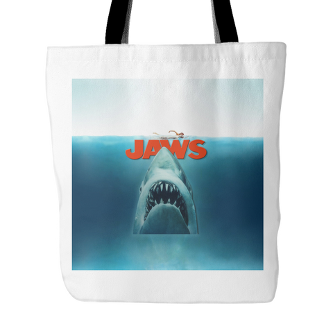 Jaws Tote Bags - Jaws Bags - TeeAmazing