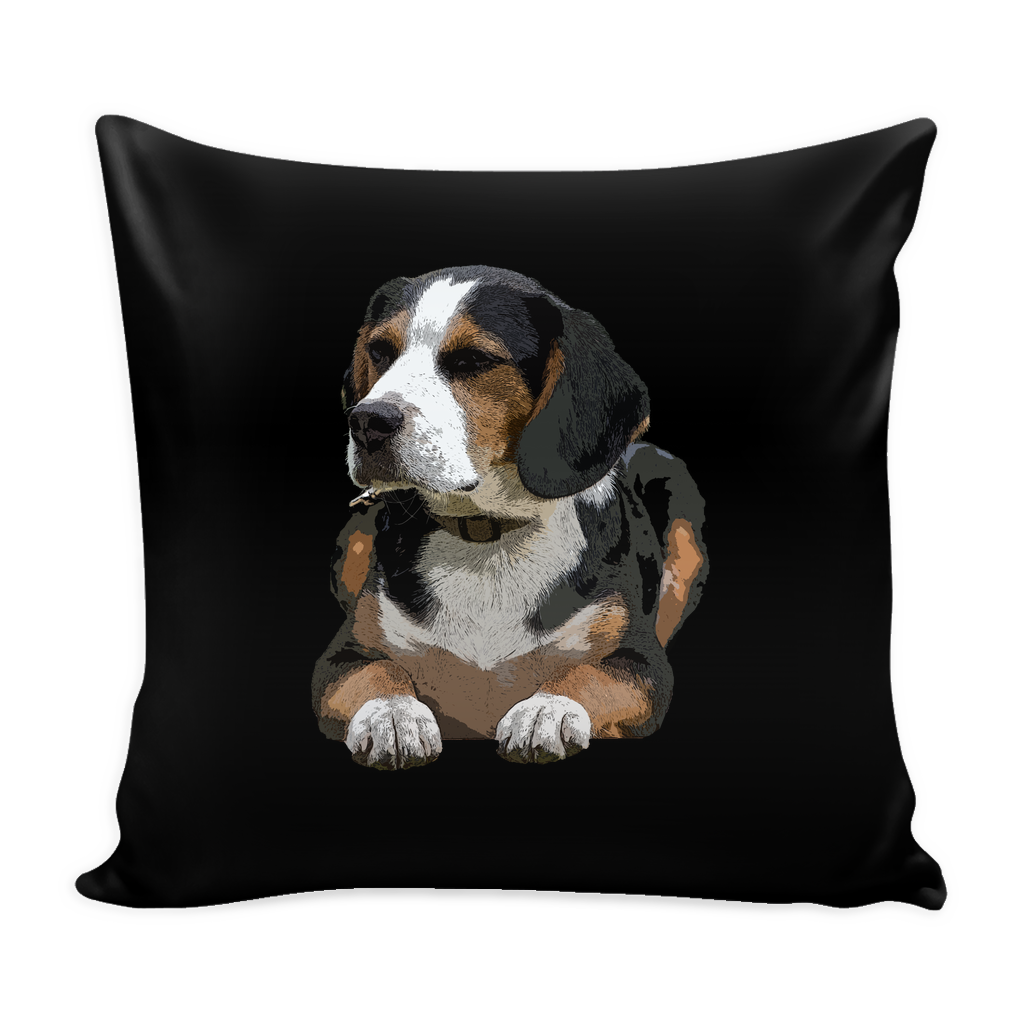 Painting Beagle Dog Pillow Cover - Beagle Accessories - TeeAmazing