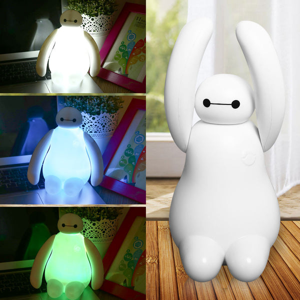 USB Power Baymax Big Hero 6 LED RGB Multicolor Colorful Color Chaning Night Light Home Desk Decoration Gift - TeeAmazing - 2