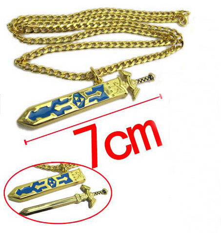High Quality Legend of Zelda Removable Master Sword Long Chain Pendant Necklace - TeeAmazing