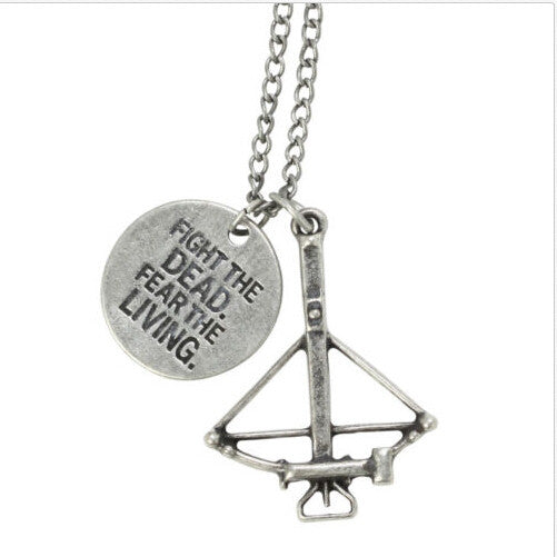The Walking Dead Necklace Red Enamel Pendant Jewelry with Chain Jewelry - TeeAmazing