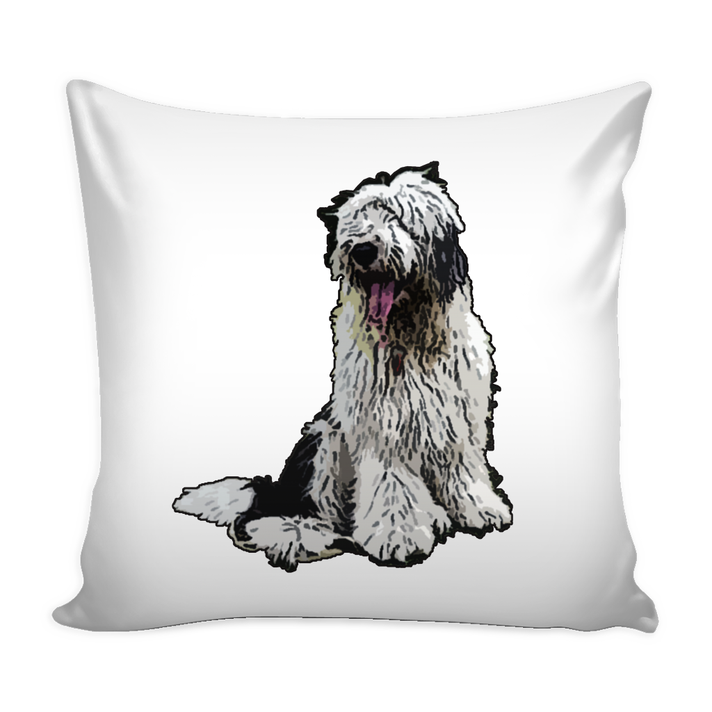Old English Sheepdog Dog Pillow Cover - Old English Sheepdog Accessories - TeeAmazing