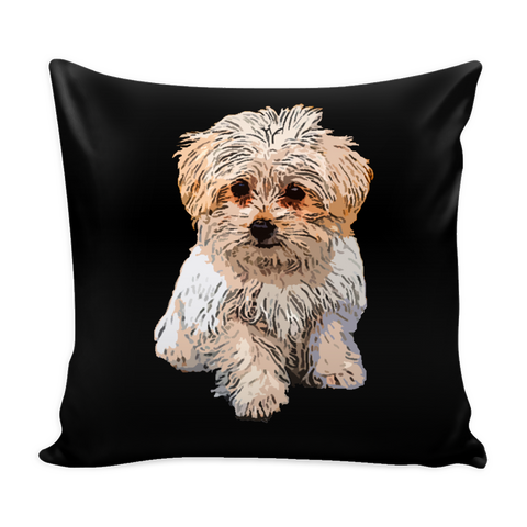 Maltese Dog Pillow Cover - Maltese Accessories - TeeAmazing - 1