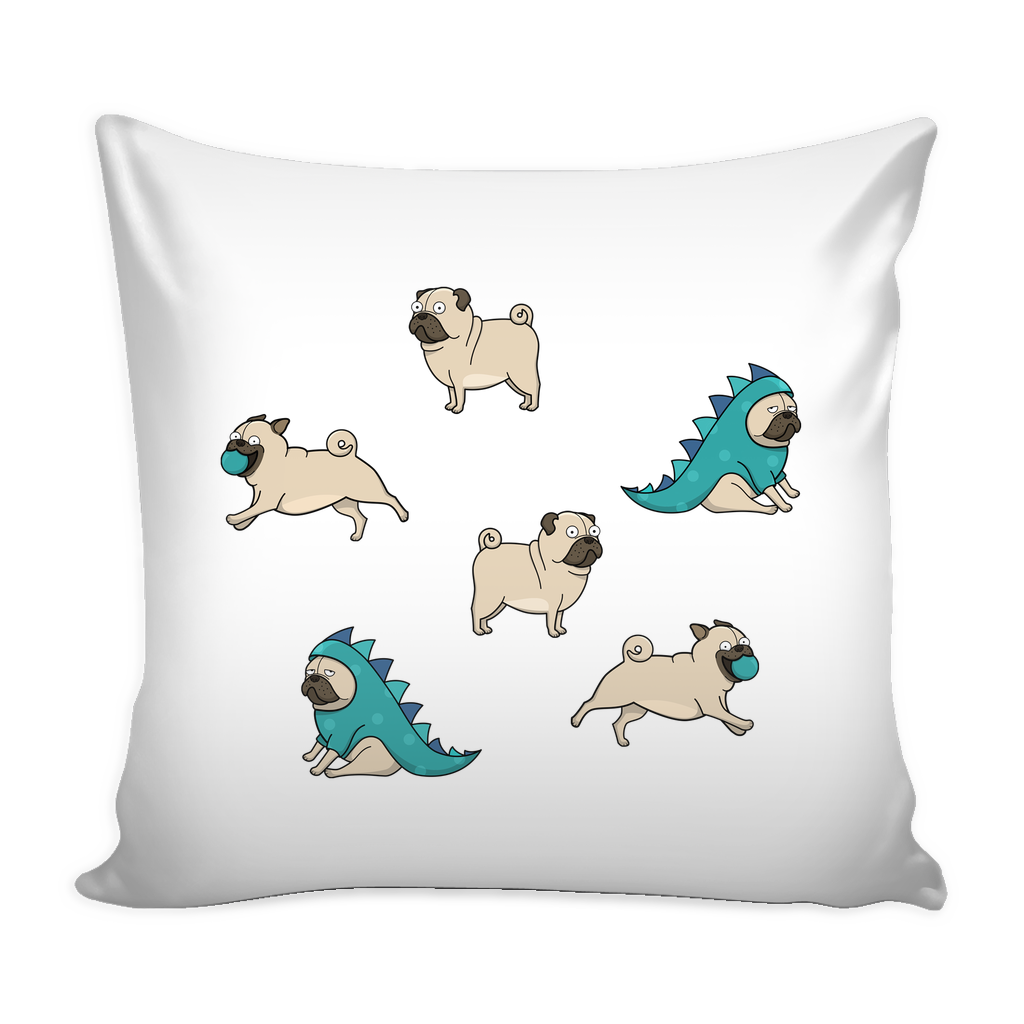 Pug Dog Pillow Cover - Pug Accessories - TeeAmazing