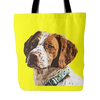 Brittany Spaniel Dog Tote Bags - Brittany Spaniel Bags - TeeAmazing - 3