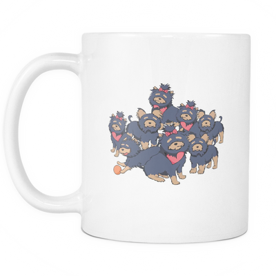 Pattern Yorkshire Terrier Dog Mugs & Coffee Cups - Yorkshire Terrier Coffee Mugs - TeeAmazing
