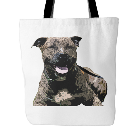 Staffordshire Bull Terrier Dog Tote Bags - Staffordshire Bull Terrier Bags - TeeAmazing - 1
