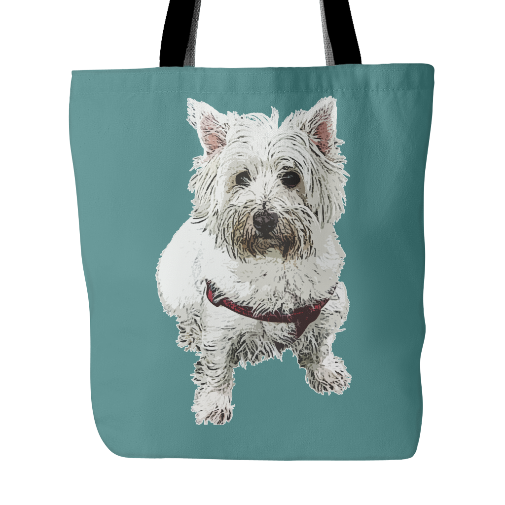 West Highland White Terrier Dog Tote Bags - West Highland White Terrier Bags - TeeAmazing