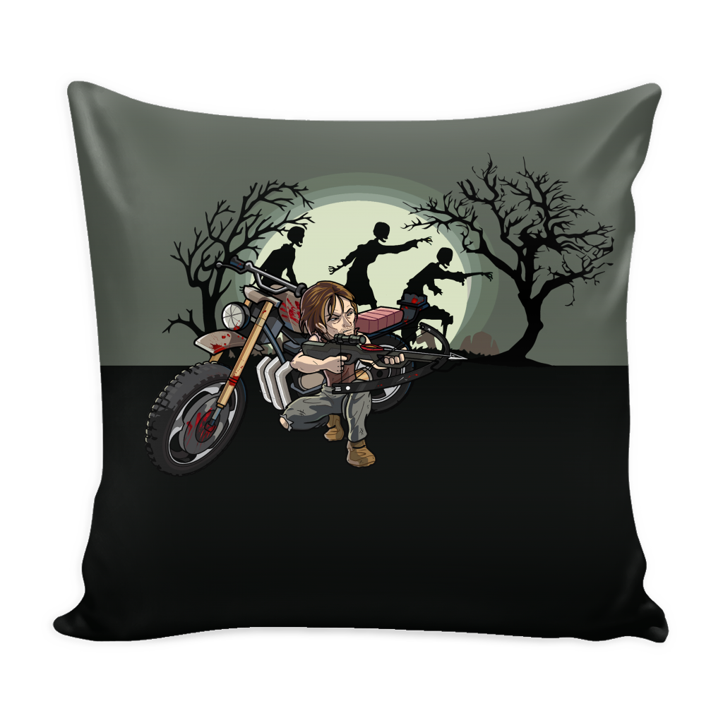 Daryl Dixon Toons Pillow Cover Accessories - TeeAmazing