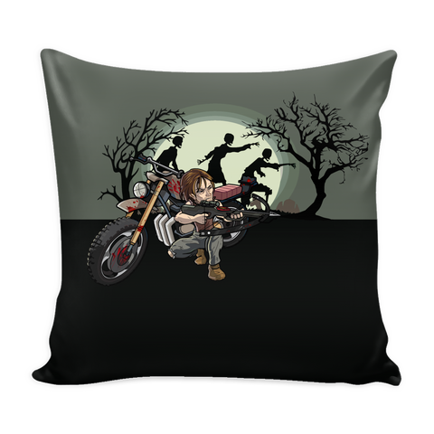 Daryl Dixon Toons Pillow Cover - Walking Dead Accessories - TeeAmazing