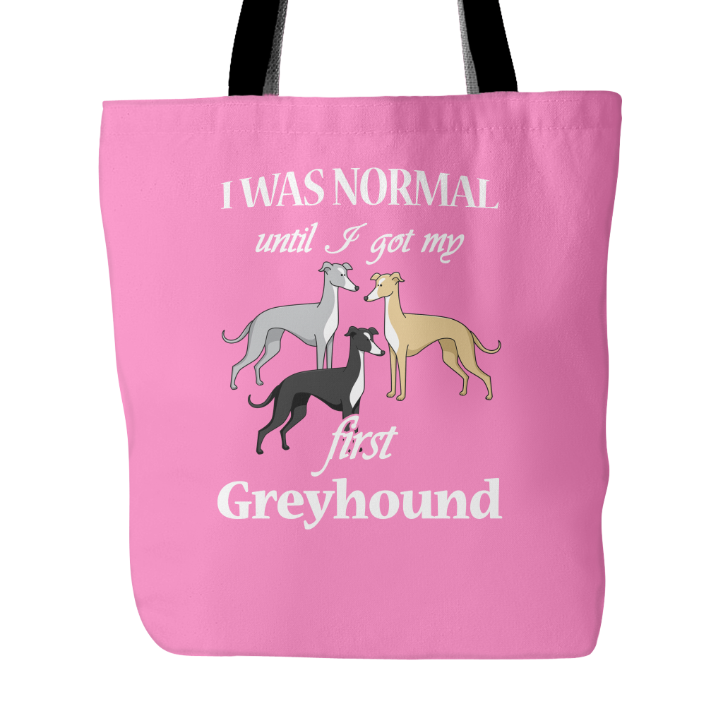 First Greyhound Dog Tote Bags - Greyhound Bags - TeeAmazing