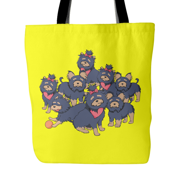 Pattern Yorkshire Terrier Dog Tote Bags - Yorkshire Terrier Bags - TeeAmazing - 1