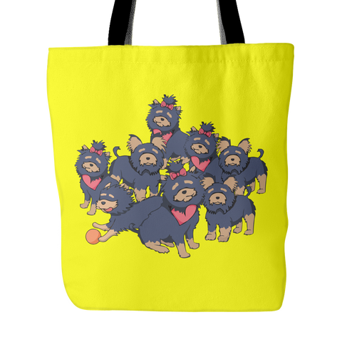 Pattern Yorkshire Terrier Dog Tote Bags - Yorkshire Terrier Bags - TeeAmazing