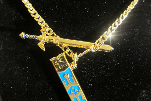 High Quality Legend of Zelda Removable Master Sword Long Chain Pendant Necklace - TeeAmazing - 4
