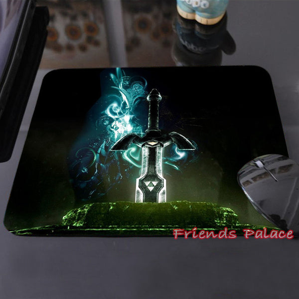 New Arrival The Legend of Zelda Eagles Logos Triforce Sword Triforce Customized Mouse Pad Computer Notebook Non-Slip Mousepad - TeeAmazing - 3