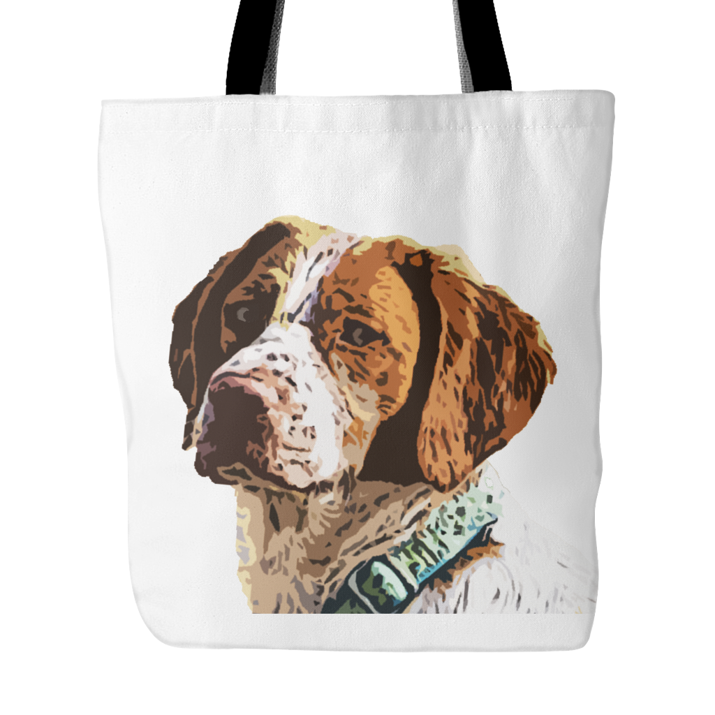 Brittany Spaniel Dog Tote Bags - Brittany Spaniel Bags - TeeAmazing